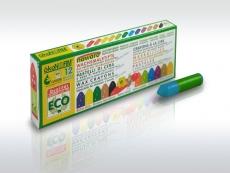 oekoNorm Wachsmalstifte, 12 Farben