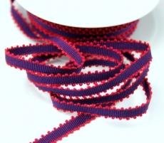 Ripsband mit Schlaufenrand 8mm - lila