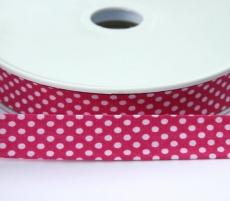 Schrägband Punkte pink