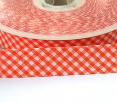 Schrägband Vichy Karo orange
