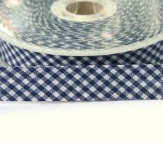 Schrägband Vichy Karo blau