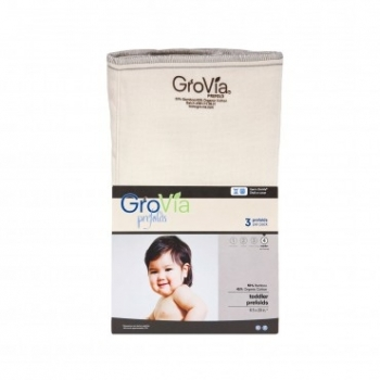 GroVia Prefolds Bamboo-Cotton 3er Pack - Größe 4 (42x51 cm)