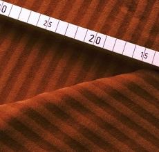 Bambus Strech-Frottee gestreift - braun