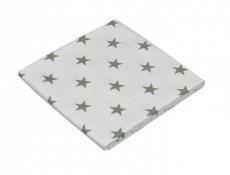 ASMI Moltontuch 80x80 Sterne grau - 2er Pack