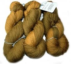 Blumenschaf Classic Sock - pflanzengefärbt  *Dahlie - 2tone oliv