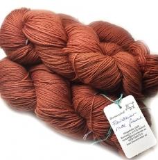Sockenwolle pflanzengefärbt 420m /100g *Faulbaumrinde ferment.