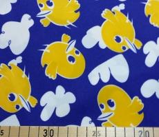 PUL Stoff bedruckt, Zuschnitt 50x45 cm - Vögelchen