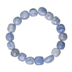 Chalcedon blau Armband Nuggets 10-12mm
