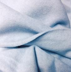 Baumwollfleece dick, 100%BW *hellblau