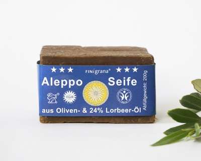 FINigrana Alepposeife mit 24% Lorbeeröl 200g