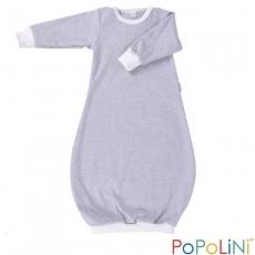 iobio Schlafhemd / Babygown Biobaumwolle *grau-ecru