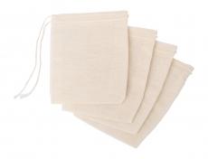 Redecker Gewürzbeutel / waschbare Teebeutel 4er Pack