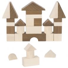 goki nature Bausteine 30 Teile mit Baumwollbeutel