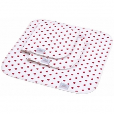 Ellas House waschbare Spül- und Küchentücher 3er-Set - White Hearts
