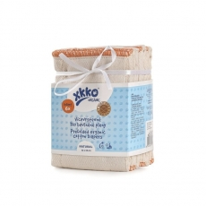XKKO Prefolds BirdEye ORGANIC infant (M) - 6er Pack