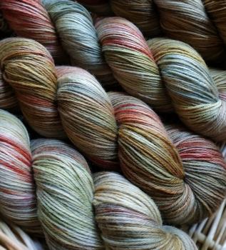 Blumenschaf Classic Sock - pflanzengefärbt *Rathania/Krapp/Malve* multicolor solargefärbt