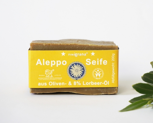 FINigrana Alepposeife mit 8% Lorbeeröl 180g