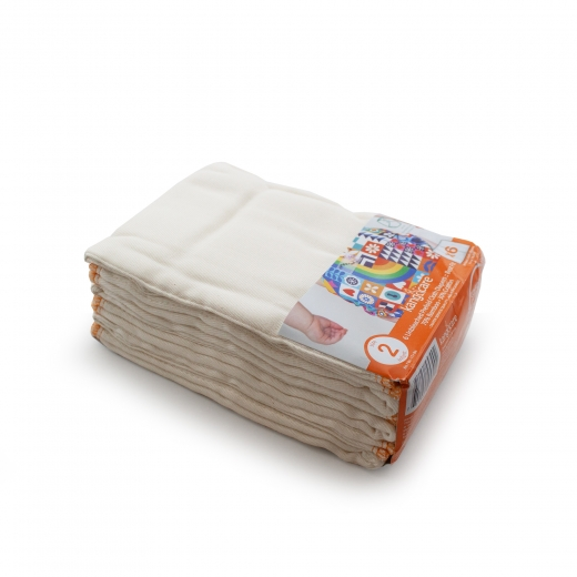 Rumparooz Prefolds Infant (Gr. 2) - 6er Pack