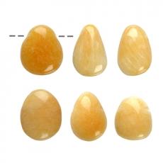 Orangencalcit Trommelsteinanhänger