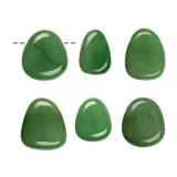 Aventurin grün Trommelstein-Anhänger (gebohrt)
