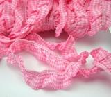 Rüschengummi 20mm kariert - rosa