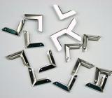 Metall Ecke für Taschen etc. - 4 Stück
