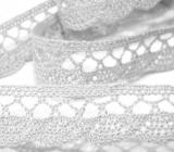Klöppelspitze aus Baumwolle 18mm - weiß