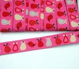Webband Birnen pink