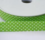 Schrägband Punkte grün