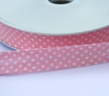 Schrägband Punkte rosa