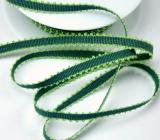 Ripsband mit Schlaufenrand 8mm - grün