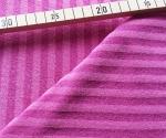 Bambus Strech-Frottee gestreift - pink