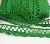 Klöppelspitze aus Baumwolle 18mm - grün