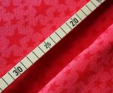 Bambusviskose/Baumwolle Sterne rot