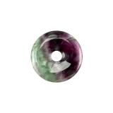 Fluorit A bunt Donut 30mm (Regenbogenfluorit)