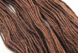 Worsted yarn Lama dunkelbraun 50g