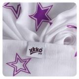 XKKO Pucktuch 120x120cm - Lilac Stars