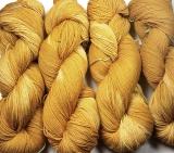 Sockenwolle pflanzengefärbt 420m /100g *Dahlie ocker