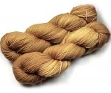 Sockenwolle pflanzengefärbt 420m /100g *Ulmenrinde