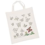 Henkelbeutel Baumwolle 38x42cm - Schmetterlinge