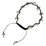 Magnesit Shambala Armband 10mm Kugeln, variable Länge