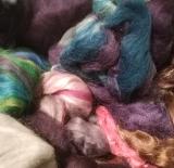 Spinnfaser - Wundertüte farbig 100g