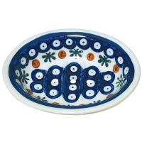 Bunzlauer Keramik Seifenschale - dunkles Muster