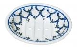 Bunzlauer Keramik Seifenschale - helles Muster
