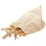 Holzwäscheklammern Jumbo - 20 Stück im Baumwoll-Beutel