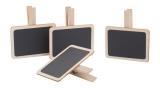 Holztäfelchen mit Kreide - 4 Stück