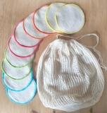 Anaé Abschminkpads aus Biobaumwolle - 10 Stück mit Wäschenetz - plastikfrei