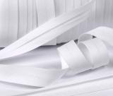 Baumwoll-Schrägband weiß