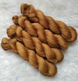 Sockengarn Turin - Merino-Seide-Ramie - pflanzengefärbt 100g *Faumbaum 1.Zug (bronze)