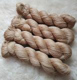 Sockengarn Turin - Merino-Seide-Ramie - pflanzengefärbt 100g *Faumbaum 3.Zug (goldbeige)